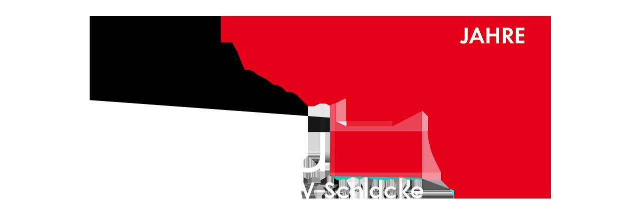 Logo emvau-schlacke 25 Jahre, white